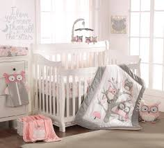 5 Piece Nursery Furniture Set by Levtex Baby Night Owl 5 Piece Crib Bedding Set Pink Babies