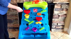 step 2 sand and water table parts step 2 waterfall discovery wall review youtube