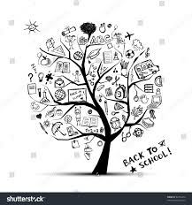 tree knowledge concept your design stock vector 82753432