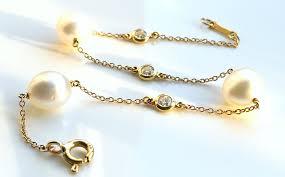 tiffany bracelet pearl images Tiffany co platinum diamond etoile bracelet 18cm with safety jpg