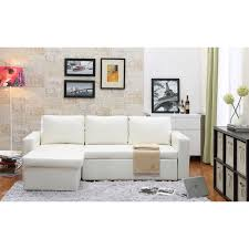 Leather Sectional Sofa Bed The Hom Georgetown 2 Piece White Bi Cast Leather Sectional Sofa