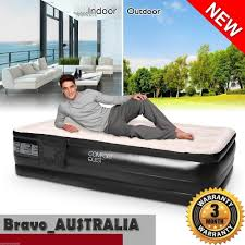Sofa Bed With Inflatable Mattress by Bestway Flocked Camping Inflatable Mattress Air Bed Single Built