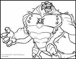 ben10 ultimate alien coloring page ultimate alien humungousaur