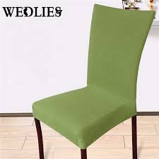 Kitchen Chair Covers Chair Covers Solid Color Universal Stretch Polyester Elastic