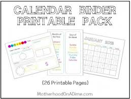 printable calendar pages free printable calendar binder pages money saving mom