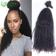 Curly Hair Braid Extensions by 7a 8a Afro Hair Bulk Peruvian Vrigin Human Braiding Hair Bulk