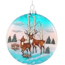 winter glass deer ornament 1189584 buffalo trader
