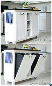 kitchen island trash bin kitchen island with trash bin create a cart kitchen island