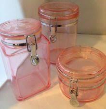 pink kitchen canister set plastic canister set ebay