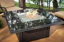 napa valley crystal fire pit table outdoor greatroom nv 2424 blk w k napa valley crystal fire pit table