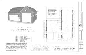 g527 24 x 8 garage plans with loft and dormer sds beauteous