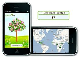 iphone savior if you buy our app we ll plant a real tree