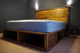 bed frames platform storage bed plans do yourself platform bed