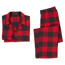 black check flannel pajama set pbteen
