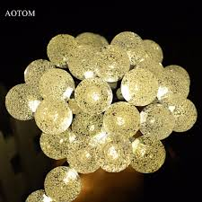 solar powered outdoor string lights wholesale solar powered led outdoor string lights 6m 30leds crystal