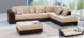 Sectional Sofa With Ottoman Modern Two Tone Mf8164 Sectional Sofa With Ottomans