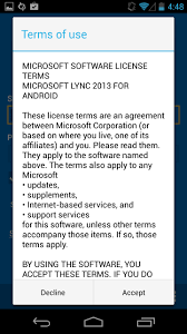 microsoft lync 2013 for android how to setup the microsoft lync 2013 mobile client for android