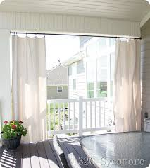 Outdoor Canvas Curtains Diy Outdoor Curtains 320 Sycamore