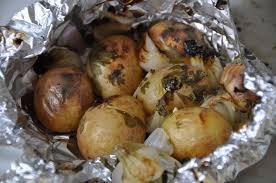 recette cuisine barbecue gaz papillote de pommes de terre au barbecue amap larmor plage