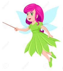 cartoon illustration of a little pixie royalty free cliparts