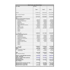 writing a business financial plan projected income statements and