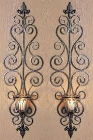 Wrought Iron Candle Wall Sconces 540 Best Lamparas Y Candelabros En Hierro Images On Pinterest