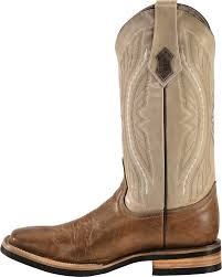 ferrini distressed kangaroo cowboy boots wide square toe
