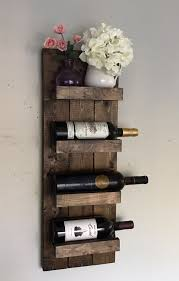 handcrafted and high quality wall mounted wooden wine rack and