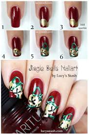 jingle bells nail art with tutorials lucy u0027s stash