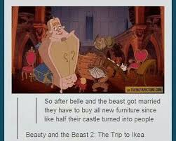 Buy All The Things Meme - beauty and the beast memes funny jokes about disney animated