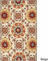 Medallion Outdoor Rug Incredible Deal On Hand Hooked Doral Indoor Outdoor Floral