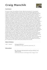 Lawyer Resume Examples by Managing Attorney Resume Samples Visualcv Resume Samples Database
