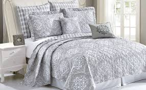 melody quilted 7 complete modern bed spread set