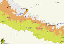 Maps Nepal by Mustang Region Gif