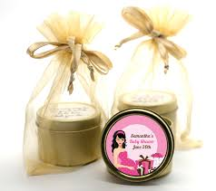 Modern Mommy Baby Shower Theme - modern mommy crib it u0027s a gold tin candle favors candles