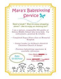 what to put on a babysitting resume babysitting flyer using mds baby sitting pinterest