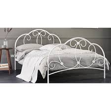 china metal bed frame with fancy headboard strong bed steads on