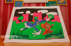 how to make tom and jerry wall hanging 123peppy