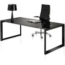 bureau en verre noir bureau design en verre milly