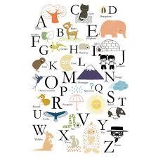 poster chambre bebe affiche alphabet abc annelore parot pour poisson bulle poisson