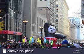 thanksgiving parade in chicago chicago illinois usa november 24 2016 kung fu panda in
