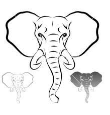 25 elephant outline ideas elephant print