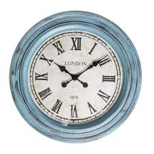 buy fulton large wall clock blue purely wall clocks
