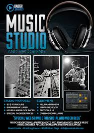 music studio 4 flyer poster by giunina on deviantart