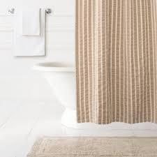 White Linen Shower Curtain Shower Curtains Luxury Cotton
