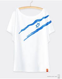 Flag Of Israel Women U0027s T Shirts With Israeli Patterns Gezer Land Pruduct Of Israel