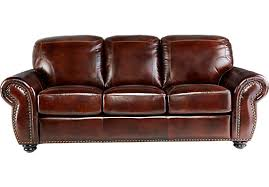 leather sofa with nailheads brown leather sofa classic traditional