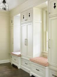 Built In Bench Mudroom Cottage Mudroom With Two Built In Window Seat Benches Cottage