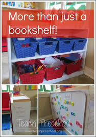 getting the most value out of a bookshelf in the preschool