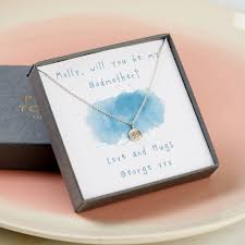 godmother necklace personalised godmother necklace giftbox by posh totty designs